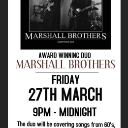Marshall Brothers Award Winning Guitar Duo LIVE at the Bridgtown Social Club