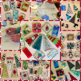 Festive Glass Fusing at Potsy Pamsy Paint-a-Pot Studio