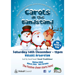 Carols in the Bandstand at Walsall Arboretum