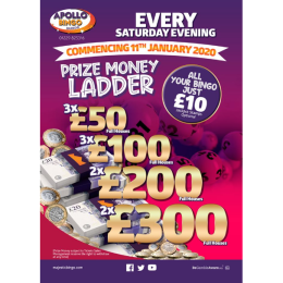 Saturday evening Prize Ladder at Apollo Bingo