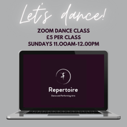 Zoom Dance Class at Repertoire Dance and Performing Arts