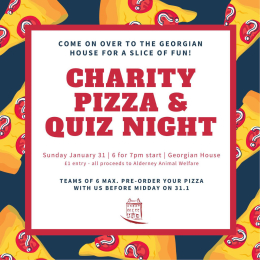 Charity pizza & quiz night at The Georgian