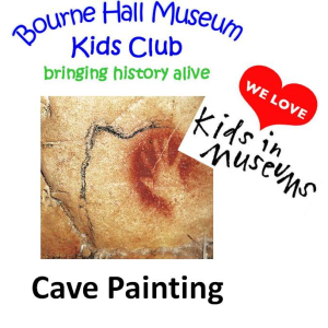 Cave Painting at Bourne Hall Museum Kids Club #epsomewellbc #horriblehistory @kidsdinmuseums