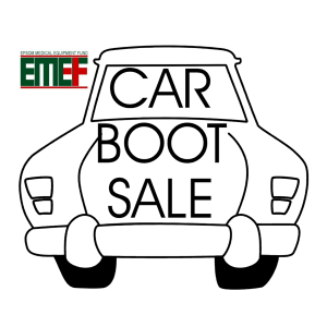 CAR BOOT at Epsom Hospital for EMEF @epsom_sthelier