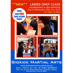 Ladies Only Kickboxing & Self-defence (Aged 13+)