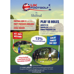 Footgolf at Haughton Hall