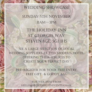 Wedding fayre & venue showcase - Stevenage, Hertfordshire