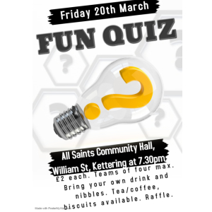 Fun Quiz Night at All Saints Community Hall.