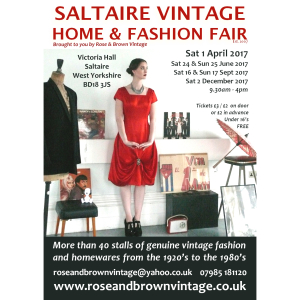 Saltaire Vintage Home & Fashion Fair (Two-day event during Saltaire Festival)