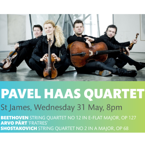 PAVEL HAAS QUARTET CONCERT AT ST JAMES