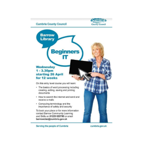 Beginners IT at Barrow Library