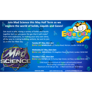 Mad Science May Half Term Camp at Eddie Catz
