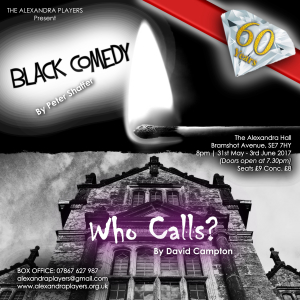 60th Anniversary celebration! The Alexandra Players present 2 one-act plays - Black Comedy and Who Calls?