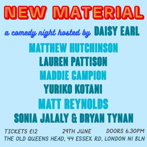 New Material - A Comedy Night by YEES