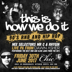 THIS IS HOW WE DO IT – THROWBACK 90'S RNB AND HIP HOP EVENT