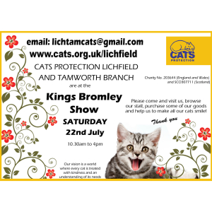 Cats Protection at the Kings Bromley Show