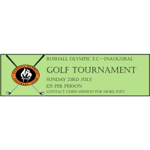Rushall Olympic FC - Inaugural Golf Tournament