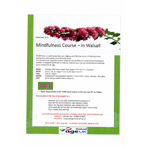Mindfulness course - in Walsall