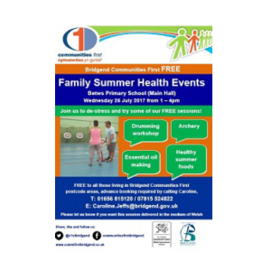 FREE family summer health events