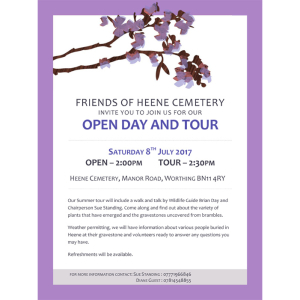 Heene Cemetery Open Day and Tour