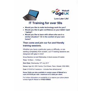 IT Training for over 50s