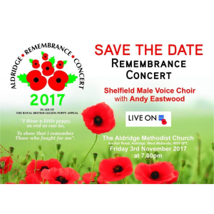Remembrance Concert with Shelfield Male Voice Choir