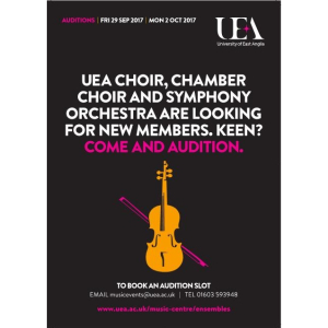UEA Chamber Choir Auditions 2017-18