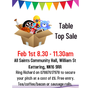Table Top Sale at All Saints Church
