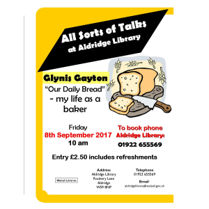 "Glynis Gayton talk: ""Our daily bread: my life as a baker"""
