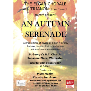 An Autumn Serenade with the Elgar Chorale and visiting music group Trianon