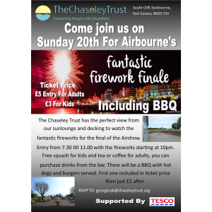 Come watch the fantastic fireworks for the final of the Airshow at The Chaseley Trust