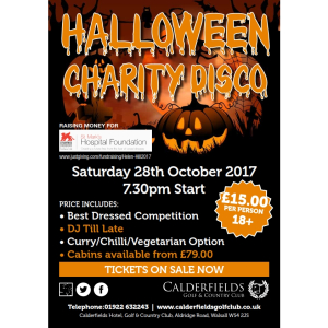 Halloween Spooktacular @ Calderfields Hotel, Golf and Country Club