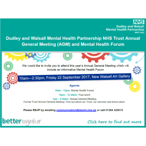 Mental Health Forum and Annual General Meeting (AGM)
