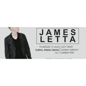 CULT SESSIONS: JAMES LETTA (Album Launch Party) + Lucy Mair, Danny Wright & Amber Pèri