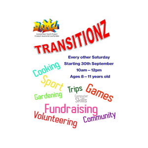 Transitionz - for children aged between 8 and 11
