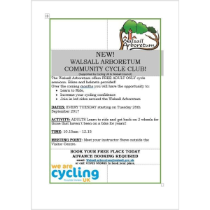 Walsall Arboretum Community Cycle Club