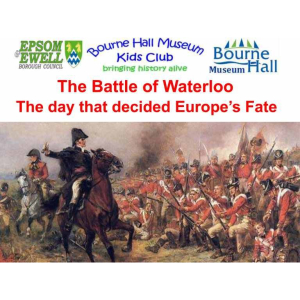 The Battle of Waterloo comes to Bourne Hall Museum Kids Club #Epsom #Ewell