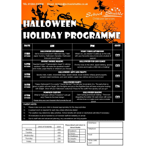 School Shuttle Halloween Holiday Programme