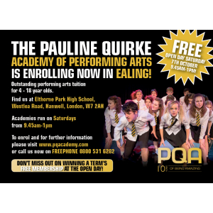 PQA Ealing FREE Open Day - Saturday 7th October 2017