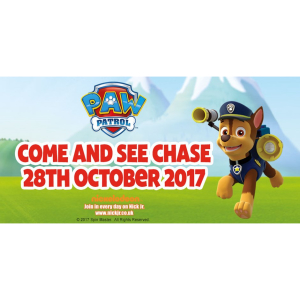 Meet PAW Patrol's Chase this October half term at Woburn Safari Park
