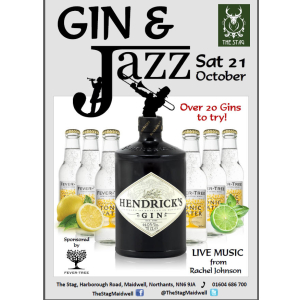 Gin & Jazz evening with live music at The Stag