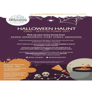 Halloween Hunt at Abingdon Town Centre