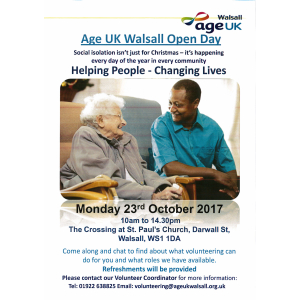 Age UK Walsall Open Day