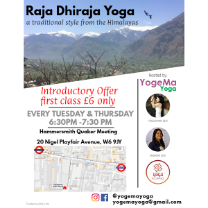 Yoga classes in Hammersmith: introductory offer - first class £6 only