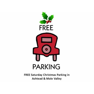FREE Christmas Saturdays Parking in #Ashtead and #MoleValleyDC
