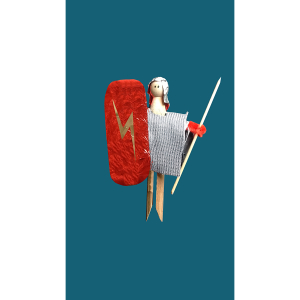 Roman Soldier Peg Doll