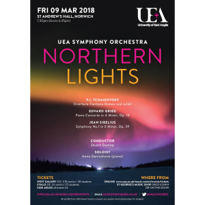 UEA Symphony Orchestra Concert: Northern Lights