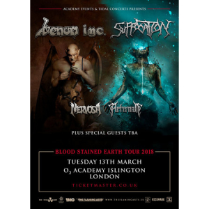 Venom Inc and Suffocation at O2 Academy Islington, London