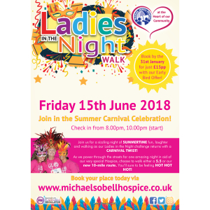 Ladies in the Night Walk 2018 in aid of Michael Sobell Hospice