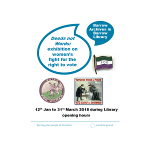 Exhibition at Barrow Archives